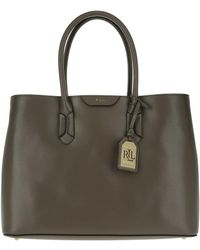 Lauren by Ralph Lauren | Tate City Tote Embossed Leather Falcon | Lyst