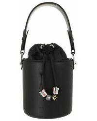 Karl Lagerfeld Charms Small Bucket - Black