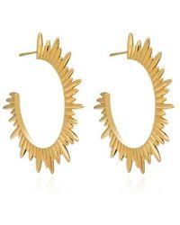 Rachel Jackson London Eternity Circle Gold Hoop Earrings - Métallisé