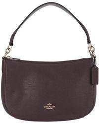 COACH - Chelsea Pebbled Leather Crossbody Bag Oxblood - Lyst