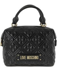 Love Moschino Logo Tote Bag Quilted Nappa Nero - Noir