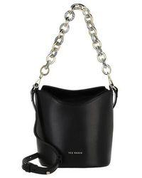 Ted Baker Brookki Resin Chain Mini Bucket Bag - Noir
