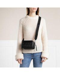 Versace Jeans Couture Logo Crossbody Bag Mini Saffiano - Zwart
