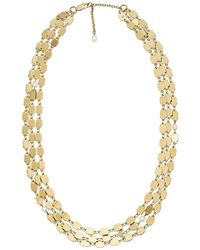 Emporio Armani - Necklace Stainless Steel Egs2701710 Gold - Lyst