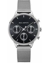 PAUL HEWITT Watch Everpulse Black Sunray Mesh Strap - Metallic