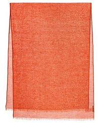 Closed Scarf Summer Linen - Orange