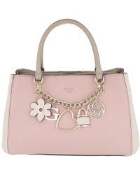 Guess - Hadley Girlfriend Satchel Bag Rose Multi - Lyst