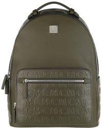 MCM Stark Men Monogramme Leather Backpack Sea Turtle - Blau