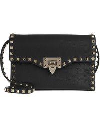 Valentino Rockstud Small Crossbody Bag Pastel Nero - Noir