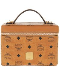 MCM Visetos Original Cosmetic Case Small Cognac - Brown
