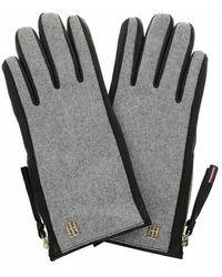 Tommy Hilfiger TH Wool Mix Gloves - Gris