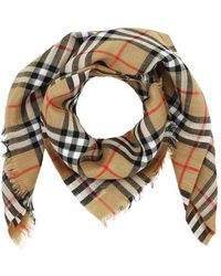Burberry Vintage Check Scarf Antique Yellow - Multicolore