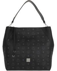 MCM Visetos Hobo Bag Large Black