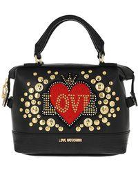 Love Moschino Love Handbag Leather Black - Noir