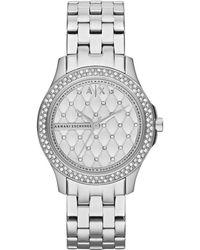 Armani Exchange Lady Hampton Stainless Steel Women's Watch - Metallic