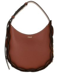 Chloé Darryl Small Hobo Bag Leather - Braun