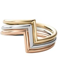 Miansai Arch Ring Set Polished - Mettallic