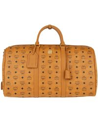 MCM Traveller Visetos Weekender Large Cognac - Brown