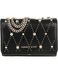 Versace Jeans - Studded Chain Crossbody Bag Black - Lyst