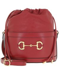 Gucci Horsebit Bucket Bag Red - Rot