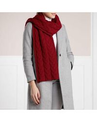 Roeckl Sports Braided Cashmere Scarf - Rood
