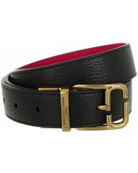 Marc Jacobs The J Link Reversible Belt Leather - Noir