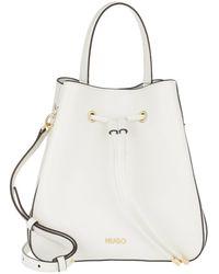 HUGO Victoria Drawstring Bag Open White - Blanc