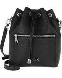 HUGO Maiden Drawstring Bag Black - Noir