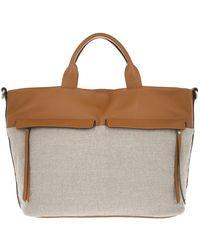 Gianni Chiarini - Two Handle Shopping Bag Leather - Lyst