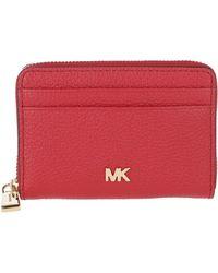 MICHAEL Michael Kors Mott Ziparound Coin Card Case Bright Red - Rouge