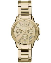 Armani Exchange AX4327 Ladies Lady Banks Watch Gold - Métallisé