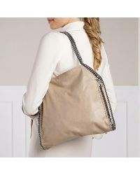 Stella McCartney Falabella Shaggy Deer Small Tote - Wit