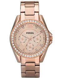 Fossil - Riley Bracelet Rosegold - Lyst