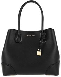 Michael Kors Mercer Gallery Medium Center Zip Tote Bag Black - Noir