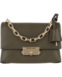 d59be4661 Michael Kors Cece Large Chain Shoulder Bag Olive in Green - Lyst
