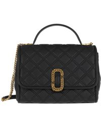 Marc Jacobs The Status Top Handle Bag Leather Black