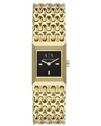 Armani Exchange Ladies Two-Hand Stainless Steel Watch - Métallisé