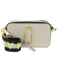 Marc Jacobs Logo Strap Snapshot Small Camera Bag Leather Grey - Grau