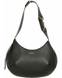 Borbonese Medium Hobo Bag Black - Schwarz