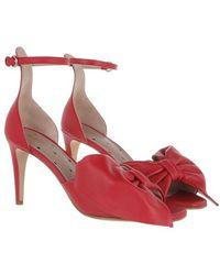 RED Valentino , Sandal en rouge - Cuir, 36 (EU)
