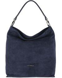 Coccinelle Keyla Suede Hobo Bag Ink - Blue