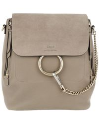 Chloé - Faye Medium Backpack Motty Grey - Lyst