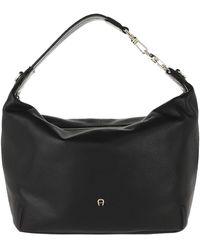 Aigner Palermo Handle Bag Black