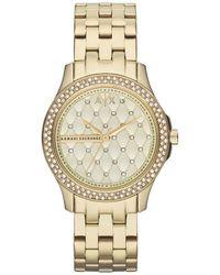 Armani Exchange Lady Hampton Gold Tone Women's Watch - Metallic
