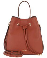 HUGO Victoria Drawstring Bag Dark Orange