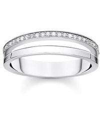 Thomas Sabo Ring White Stones - Blanc