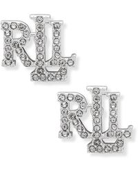 Lauren by Ralph Lauren Earrings Stud Silver/Crystal - Métallisé