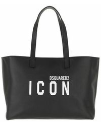 DSquared² Shoulder Bag Leather - Noir
