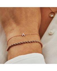 Isabel Bernard La Concorde Rachel 14 Karat Initial Bracelet D - Métallisé