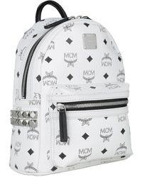 MCM Stark Backpack Mini White - Blanc